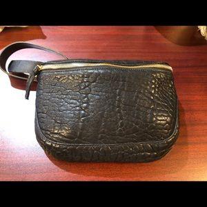 Clare V Fanny Pack in Black Gravel Italian leather